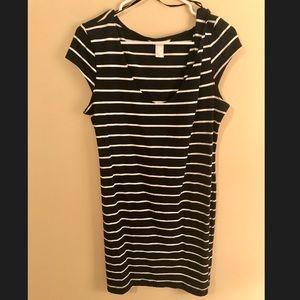 ***3 FOR $10 PROMO*** Navy/white striped dress